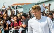 Matthijs de Ligt wird von den Fans von Juventus Turin begeistert empfangen