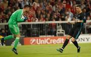 Sven Ulreich wird es auch in Madrid wieder mit Cristiano Ronaldo zu tun bekommen