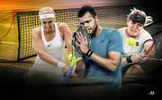 Die abgestürzten Tennis-Stars: Sabine Lisicki, Jo-Wilfried Tsonga und Eugenie Bouchard