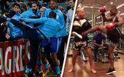 Patrice Evra sorgt mit einem Tritt vor dem Spiel Olympique Marseille gegen Guimaraes für Eklat