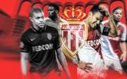Das Team der AS Monaco um Radamel Falcao (2.v.r.) und Benjamin Henrichs (r.) kann die Abgänge von Mbappe und Co. nicht auffangen