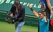 Roger Federer steht zum zwölften Mal im Finale von Halle