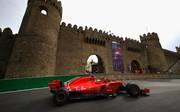 Formel 1: Großer Preis von Aserbaidschan in Baku bleibt bis 2023 , Der Finne Kimi Räikkönen beim Rennen 2018 in Baku