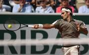 TENNIS-FRA-OPEN-MEN Nach hartem Kampf gegen Stan Wawrinka setzt sich Roger Federer im Schweizer Duell durch und zieht ins Halbfinale ein