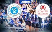 In der Volleyball-Bundesliga der Frauen duellieren sich am Sonntag Wiesbaden und Stuttgart