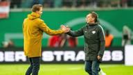 Ralf Rangnick (r.) räumt im Sommer den Trainer-Posten bei RB Leipzig für Julian Nagelsmann