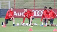 Bayerns Nationalspieler sind in München zurück im Training