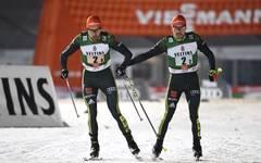 Fabian Riessle (r.) und Johannes Rydzek gehören unter den Nordischen Kombinierern zu den schnellsten Läufern