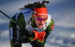 Benedikt Doll wurde über 10 km in Hochfilzen Dritter