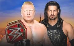 Brock Lesnar (l.) verteidigt beim SummerSlam seine Universal Championship gegen Roman Reigns