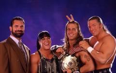 Die Original-DX: Rick Rude, Chyna, Shawn Michaels, Triple H
