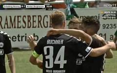 Christoph Buchner (vorne) schoss das entscheidende Tor für Wacker Burghausen