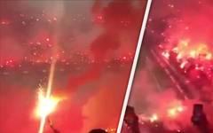 Vor Istanbul-Derby: Galatasaray-Fans feiern Pyro-Party