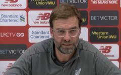Jürgen Klopp vom FC Liverpool auf einer PK