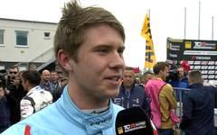 ADAC TCR Germany: Mike Halder im Siegerinterview nach 1.Rennen in Most