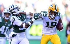 Green Bay Packers v New York Jets Equanimeous St. Brown fing bisher Pässe für 234 Yards für die Green Bay Packers