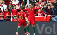 Cristiano Ronaldo feiert seinen Treffer in der Nations League