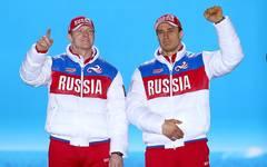 Olympia 2014: Moskauer Gericht spricht Alexander Subkow Sotschi-Gold zu, Alexander Subkow (links) gewann 2014 in Sotschi Olympia-Gold im Zweierbob