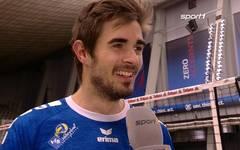 Daniel Malescha nach VfB Friedrichshafen gegen Powervolleys Düren im DVV Pokal