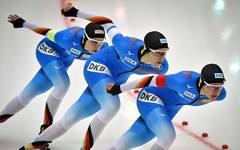 Roxanne Dufter, Gabriele Hirschbichler und Michelle Uhrig (vl.) gewannen die zweite EM-Medaille für Deutschland in Kolomna