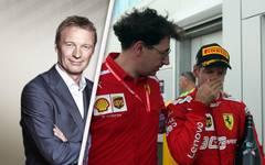 Sebastian Vettel (r.) ist bei Ferrari ebenso gefordert wie Teamchef Mattia Binotto (M.)