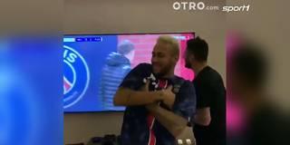 Mbappe-Jubel! So wild feiert Neymar das PSG-Siegtor gegen ManUnited