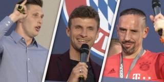 Süle singt, Ribéry hüpft: FCB-Stars feiern den Titel