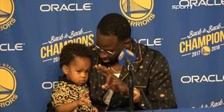 Peace! Warriors-Baby verzückt die NBA
