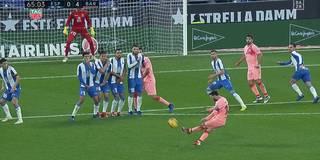 Doppelt genial! Freistoß-Genie Messi demütigt Espanyol