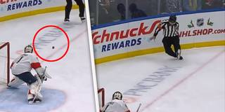 """Wie geht das denn?! NHL-Schiri """"schießt"""" Tor mit dem Bauch"""
