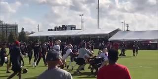 Heftige Schlägerei bei NFL-Training