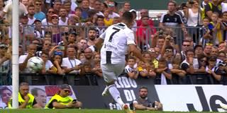 So lässig trifft Ronaldo bei seinem Juve-Debüt