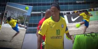 Ronaldinho dreht auf: Große Zaubershow beim Beachsoccer