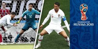 Hier köpft Ronaldo Portugal zum Zitter-Sieg
