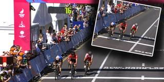 Zu früh gefreut: Radrennfahrer wegen Jubel nur Dritter