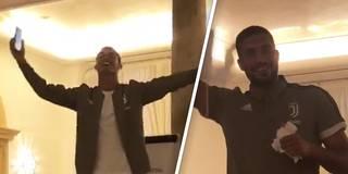 Juve-Einstand: Ronaldo und Can zeigen ihre Gesangs-Skills