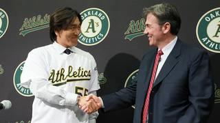 Oakland Athletics Introduce Hideki Matsui