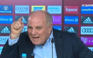 Bayern Münchens Präsident Uli Hoeneß greift Ex-Spieler Juan Bernat hart an