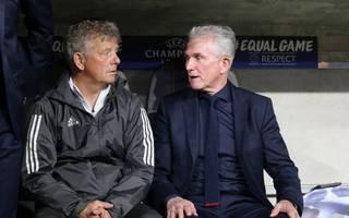 Peter Herrmann (l.) und Jupp Heynckes (r.) arbeiteten erfolgreich bei Leverkusen und Bayern zusammen