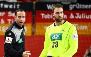 Andreas Wolff (r.) soll die Nummer 1 bei der Handball-WM, Silvio Heinevetter die Nummer 2
