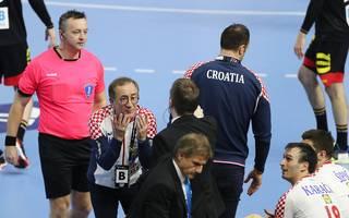 Kroatien-Coach Lino Cervar war nach dem Duell gegen Deutschland außer sich