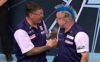 Gary Anderson (l.) und Peter Wright triumphierten beim World Cup of Darts