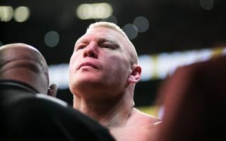 Brock Lesnar (l.) bestritt sein letztes UFC-Match im Jahr 2016