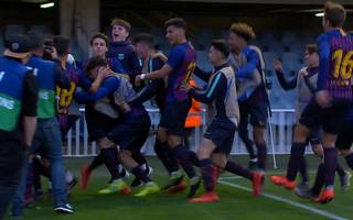 Youth League: FC Barcelona - Olympique Lyon (3:2): Tore und Highlights
