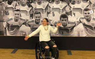 Kristina Vogel besucht Länderspiel von Deutschland gegen Russland