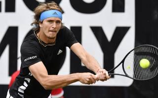 TENNIS-ATP-GER-2019 Alexander Zverev duelliert sich mit Steve Johnson um das Viertelfinalticket