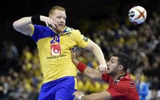 HANDBALL-WC-2019-EGY-SWE Jim Gottfridsson geht in der Bundesliga für die SG Flensburg-Handewitt auf Torejagd