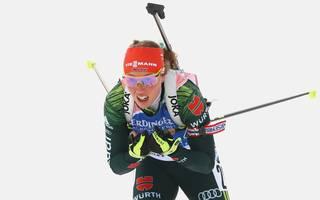 Biathlon: Laura Dahlmeier trainiert nach Zwangspause wieder auf Schnee , Laura Dahlmeier hat nach gesundheitlichen Problemen noch Trainingsrückstand