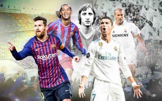 Johann Cruyff, Ronaldinho, Lionel Messi: Sie alle prägten den Clasico zwischen Real Madrid und dem FC Barcelona