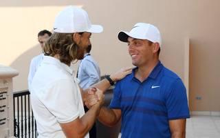 Tommy Fleetwood (l.) gratulierte Francesco Molinari zum Gesamtsieg